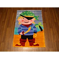 Kids Chinese Hand Carved Childrens Pirate Rug 70cmx100cm Ideal For Childrens Bedroom Top Quality