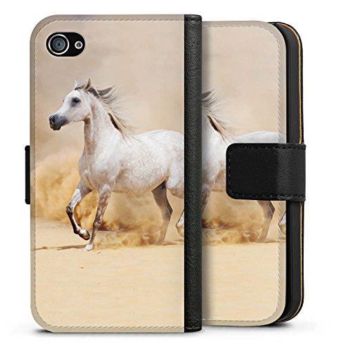 Apple iPhone 5c Tasche Hülle Flip Case Pferd Wüste Horse Sideflip Tasche schwarz