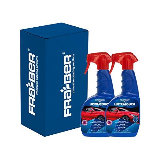 FRA-BER Producto Innovador 3in1Color Cera, Polish y Protección para Coche lustratouch 750ML 2pz