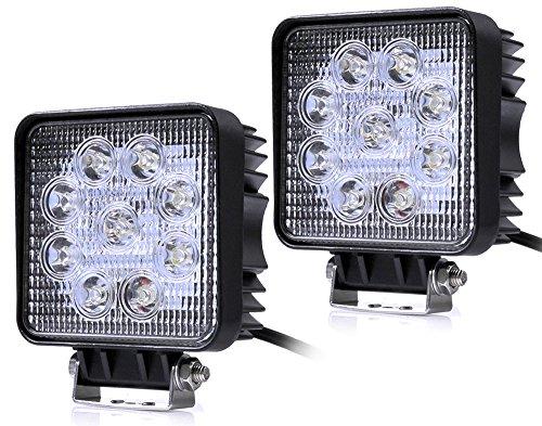 Preisvergleich Produktbild Kaleep 2 X 27W LED Offroad Flutlicht Reflektor Scheinwerfer Arbeitslicht SUV,  UTV,  ATV Arbeitsscheinwerfer Zusatzscheinwerfer Offroad Scheinwerfer 12-24V (2)