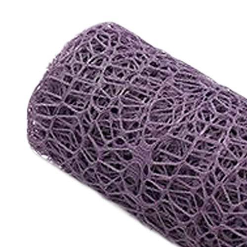 Blumenstrauß Wrap Supplies Mesh Blume Einwickelpapier Jacquard Verbandsmull, Dark Purple