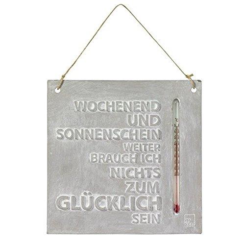 Räder Design Thermometer - Aussenthermometer - Wochenend und Sonnenschein 18 x 18 x 1 cm