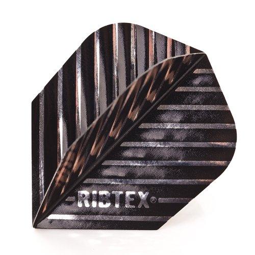 5 x Sets of Harrows Ribtex schwarz Silber Dart Flights, Ribbed, Standard Form