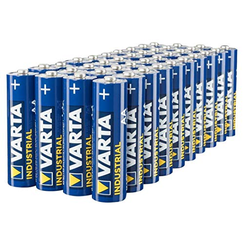E 1 Batterie (VARTA Industrial Batterie AA Mignon Alkaline Batterien LR6, 40er pack)