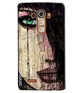 Omnam Girl Closeup With Hairs Printed Designer Back Cover Case For LG G4