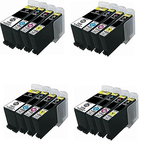 Prestige Cartridge Lexmark 100XL Pack de 16 Cartouches d'encre compatible avec Imprimante Lexmark, Noir/Cyan/Magenta/Jaune