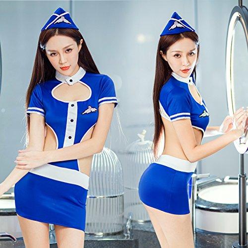 Roleeplay sexy Dessous, Super Sexy Uniform, Sm Stewardess, Polizei Polizistin, enge Tasche, Hip-Hop, Rock, Leidenschaft, Night Club, kleinen Code