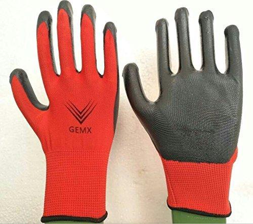6 Pares Guantes De Trabajo, Impermeable guantes de trabajo, recubierto, guantes de trabajo, Jardinería, Pesca, Restoration, Trabajos De Construcción