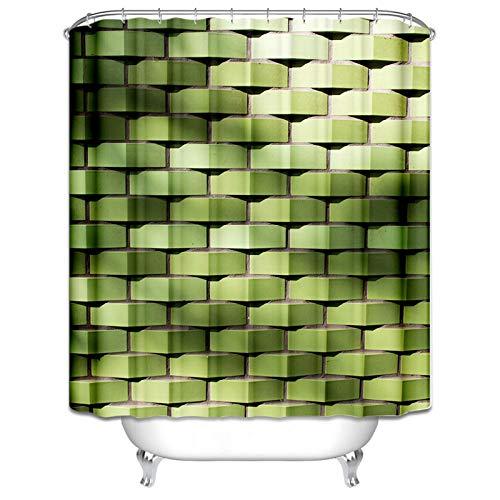 AieniD Badewannenvorhang Antischimmel Weberei Grün Wasserdicht Duschvorhang Size:90X180CM