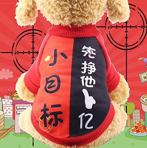 CYSGJ Hundebekleidung Heimtierbedarf Wandern Übung Spielen Pudel Teddy Welpe Kleines Ziel Haustier Dekoration M