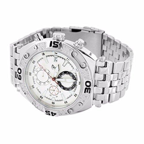 7977bc7734b Aqua Master Watch For Men 14k White Gold Finish Water Resistant Jojo Jojino  Sale