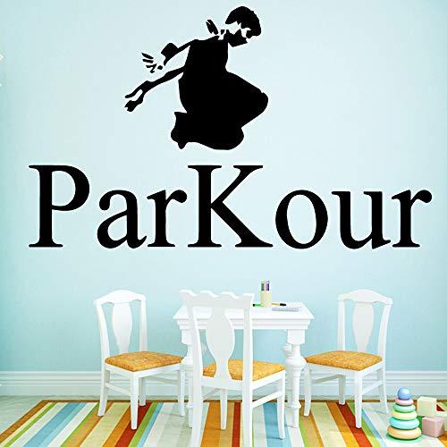 Parkour Wandaufkleber Home Decoration Nordischer Stil Home Decoration Wasserdichtes Wandtattoo Wohnaccessoires Muursticker Pink M 30cm X 49cm