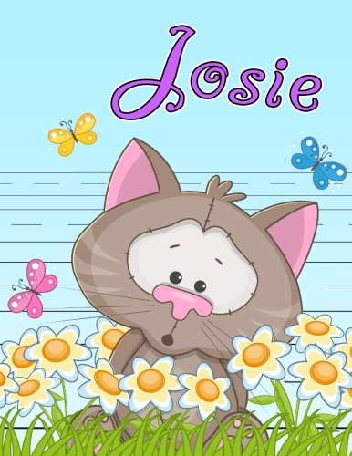 Josie: Personalized Book with Child's Name, Primary Writing Tablet for Kids, 65 Sheets of Practice Paper, 1