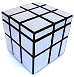 #9: EMOB 3X3 Silver Mirror Cube Puzzle Fast And Smooth Cube - Silver