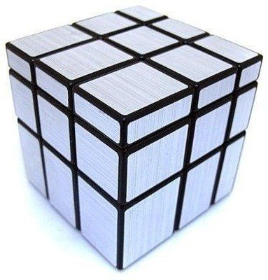 EMOB 3X3 Silver Mirror Cube Puzzle Fast And Smooth Cube - Silver