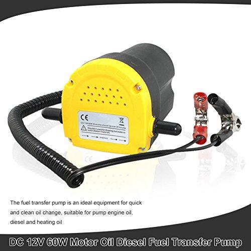 Pompa di trasferimento diesel dell'olio del motore dell'estrattore fluido di CC 12V 60W di Zerone 250L / ora per il quadrato della motocicletta dell'automob