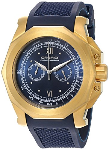 Orefici Quartz Stainless Steel and Rubber Casual Watch, Color:Blue (Model: ORM2C4886)