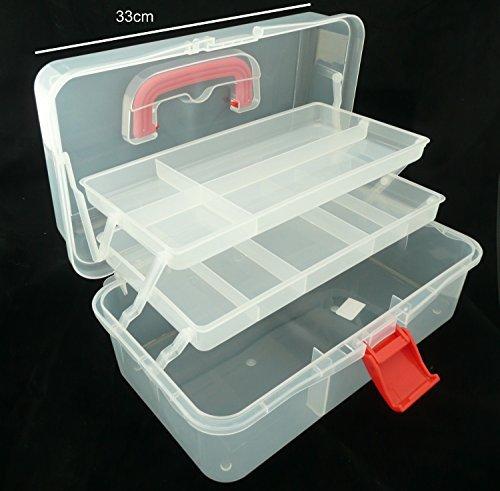 Hobby Sortier- Box XL, Aufbewahrungsbox für Bastelmaterial, Werkzeuge Malerei u.a