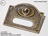 fabrisuber since 1977Klingel Outdoor mit Platte für Tür, Messing massiv