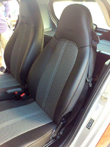 TOPCAR-ATHENS TC715335361589GR Ecopelle Nero Bi Grigio Nero Sintetica Due Auto Coprisedili