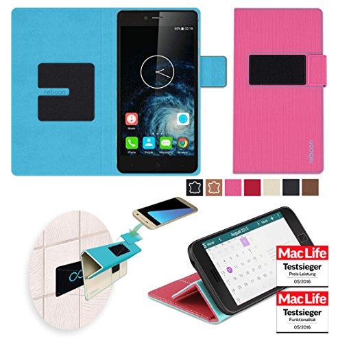 reboon Hülle für Elephone S2 Plus Tasche Cover Case Bumper   Pink   Testsieger