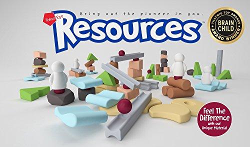 Resources Fun Pack - Konstruktionsspielzeug für Kinder - Bausteine Set von Natürlichen Ressourcen Inspiriert - Lernspielzeug zur Entwicklung der Fähigkeiten von Kindern - (Roboter Kostüm Musik)