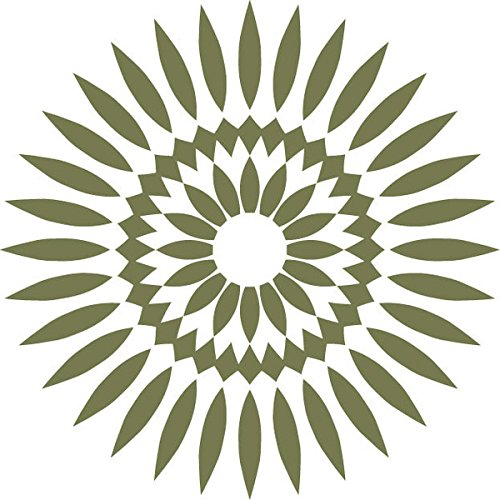 Odhams Press Sticker, Motiv Sonnenblume, Olive, 15 cm