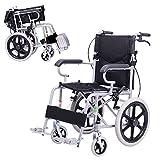 Rollstuhl Tragbarer Transportklapprollstuhl Tragbarer Reisestuhl Behinderte Ältere Leichte Rollstuhl (Color : SCHWARZ)
