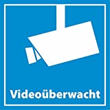 INDIGOS UG 10x Aufkleber Videoüberwachung / videoüberwacht 5 x 5 cm - Quadratisch - Dezent aber wirkungsvoll - Hochwertige Foli