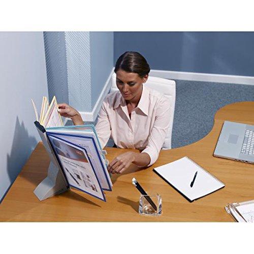 Nobo Kit de escritorio Pivodex - Plástico - 10 fundas - Carpeta (A4, Multicolor)
