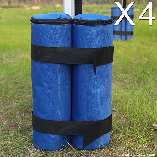 ABCCANOPY 4er Set Standfuß für Pavillon,Sandsack,Blau