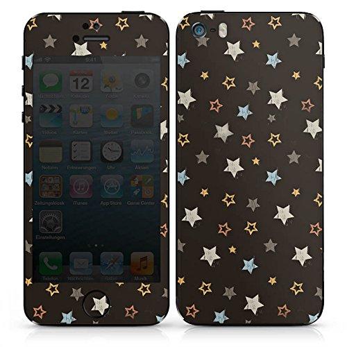 Apple iPhone SE Case Skin Sticker aus Vinyl-Folie Aufkleber Sterne Rockstar Dunkel DesignSkins® glänzend