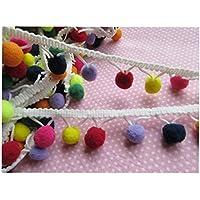 YYCRAFT - Cinta de pompón arcoíris para coser 4,5 metros