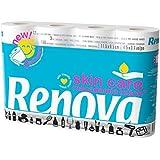 Renova Papel higiénico Skin Care Macadamia Blanco Locionado - 12 rollos de papel