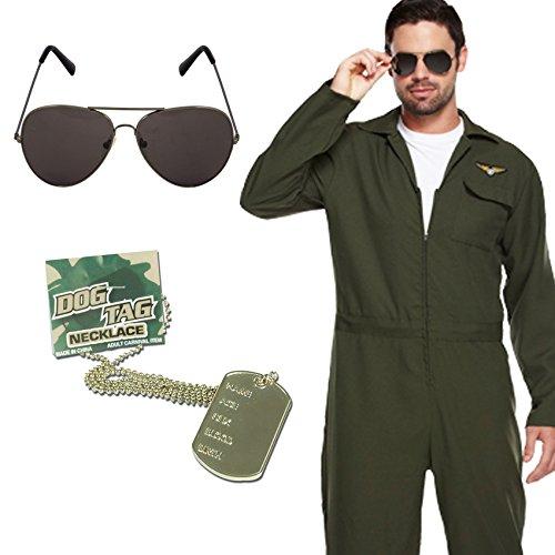 Men's Aviator Pilot Top Gun Costume