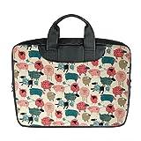 Benutzerdefinierte 15 Zoll importiert Nylon wasserdicht Stoff Laptop tragbare Schulter Messenger Bag Diy Schaf Design