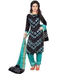 MEGHALYA Women's Satin Cotton Dress Material (V Gulty Satin Cotton Dress-4040)