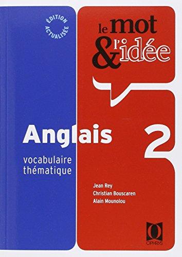Mot et idée anglais 2