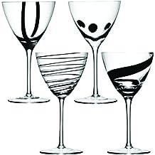 400ml LSA Jazz calice di vino, nero (confezione da 4)