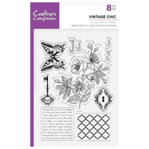 Crafters Companion Unmounted Clear Acrylic Stamp - Vintage Chic