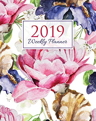 2019 Weekly Planner: A Year - 365 Daily - 52 Week-Daily Weekly Monthly Planner Calendar, Journal Planner and Notebook, Agenda Schedule Organizer, ... Big Flowers  (January 2019 to December 2019) (Agenda Big)