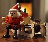 Wichtelstube-Kollektion Räuchermännchen Räuchermann Räucherfigur Weihnachtsschlitten Weihnachtsmann auf Schlitten