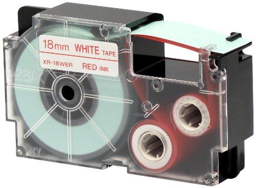 CASIO EZ-Label Printer XR-18WER1 Schriftband selbsthaftend 18 mm x 8,0 m rot auf weiß