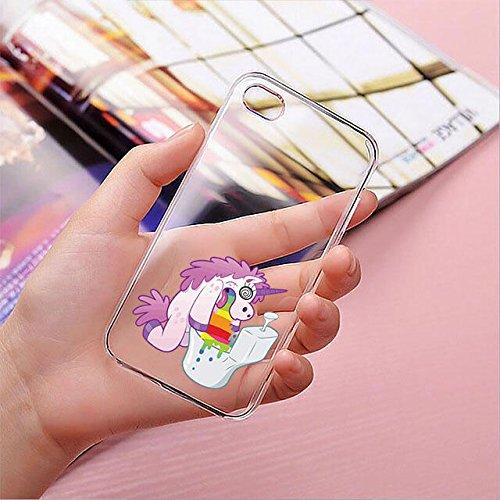 finoo | iPhone 6 Plus / 6S Plus Hard Case Handy-Hülle mit Motiv | dünne stoßfeste Schutz-Cover Tasche in Premium Qualität | Premium Case für Dein Smartphone| Einhorn flauschig Einhorn Klo