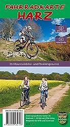 Fahrradkarte Harz - standard: Zwei topografische Karten mit Wegen und Routen-Vorschlägen für Mountain- und Trekkingbike