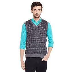 Duke Mens Polyester Sweater (Bbapldk36132_L_M.Grey Melange_Large)