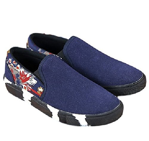 HarrowandSmith British Fashion Store  M1307, Mocassins pour homme Noir noir 43 EU Bleu
