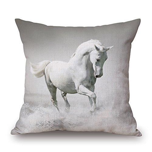 loveloveu Valentine Day Kissenbezüge of Horse für Paare Ihr Eßzimmer Kinder Jungen home office 45,7x 45,7cm/45von 45cm (2Seiten)