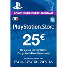 Carte Playstation Network 25 EUR [Code Jeu PSN PS4, PS3, PS Vita - Compte français]