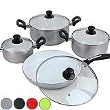 Jago 4er-Set Töpfe Kochtopf Set Kochtöpfe in vier verschiedenen Farben